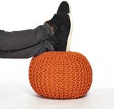 Fab Knitted Pouf Orange