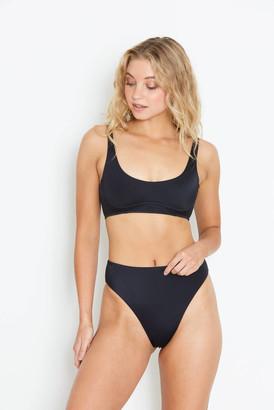 Tori Praver Black Evie Bikini Top Black L