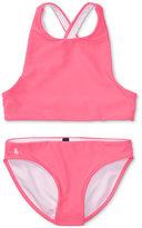 Ralph Lauren 2-Pc. Cross-Back Swimsuit, Big Girls (7-16)