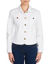 Allison Daley Button Front Denim Jacket