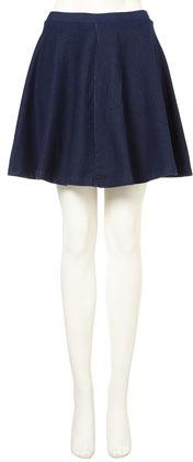 Topshop Dark Denim Skater Skirt