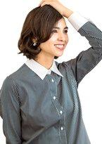 LEONIS SHIRTS & FAVORITES LEONIS Women's 100% Cotton Wrinkle Free White Collared Long Sleeve Shirt No. [ 44096 ]