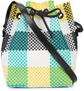 Truss Nyc - check bucket bag - women - Leather/Polypropylene - One Size