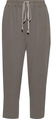 Rick Owens Astaire Cropped Wool-crepe Straight-leg Pants