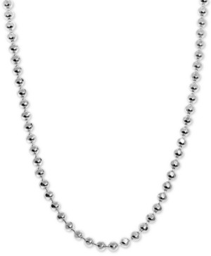 """Alex Woo Beaded 18"""" Chain Necklace in Sterling Silver"""