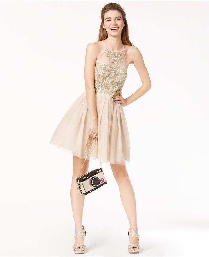B. Darlin Juniors' Embroidered & Embellished Dress