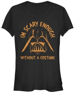 Fifth Sun Star Wars Women's Darth Vader Scary Enough Short Sleeve Tee Shirt