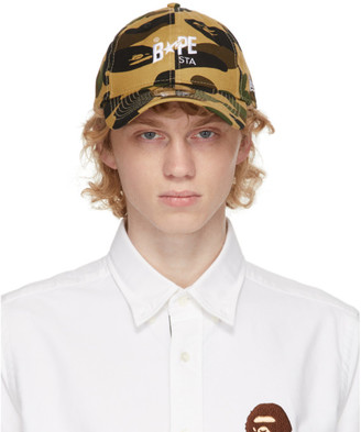 BAPE Yellow Camo 1st STA New Era Cap