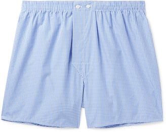 Derek Rose Gingham Cotton Boxer Shorts