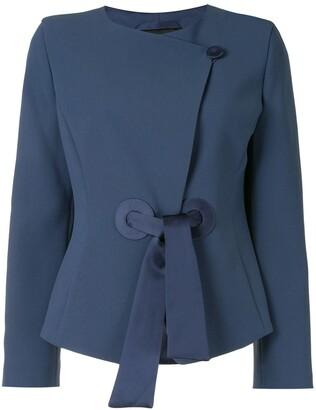 Emporio Armani Tie-Fastening Fitted Jacket