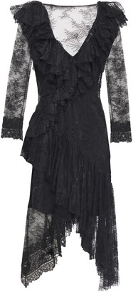 Philosophy di Lorenzo Serafini Asymmetric Ruffled Lace Dress