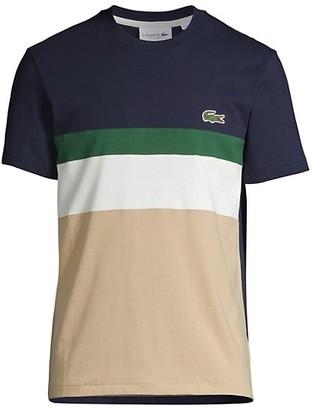 Lacoste Colorblock Jersey Crewneck T-Shirt