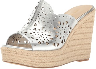 Nine West Women's Derek Leather Wedge Sandal