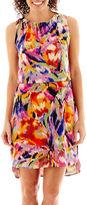 Tiana B Sleeveless Floral Print High-Low Blouson Dress - Petite