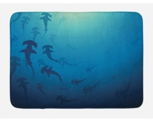Ambesonne Sea Animals Bath Mat Bedding