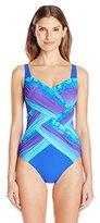 Gottex Women's Pixel Ombre Shaped Square-Neck One-Piece Swimsuit