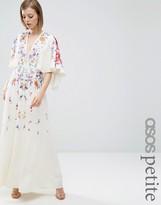 Asos Embroidered Kimono Maxi Dress