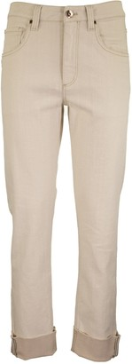 Brunello Cucinelli Garment-dyed Straight Leg Trousers In Soft Denim With Shiny Selvedge