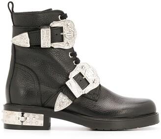 Philipp Plein Buckled Cowboy Boots
