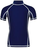 John Lewis Boys' Short Sleeve Rashie, Navy