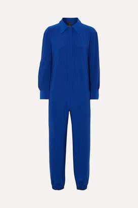 Norma Kamali Stretch-jersey Jumpsuit - Blue