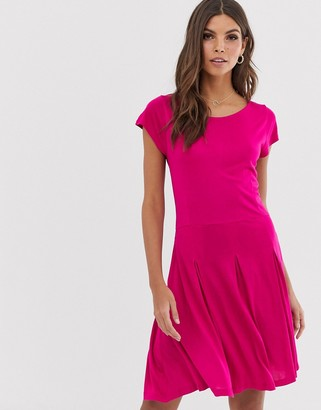 French Connection fit and flare dress-Pink