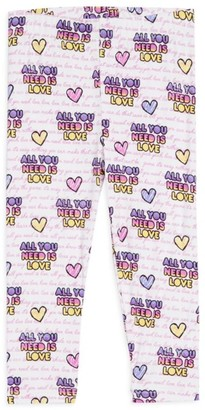 Rowdy Sprout Baby's, Little Girl's & Girl's All You Need Is Love Leggings