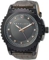 Sean John Men's 10030886 Genuine Diamond Analog Display Japanese Quartz Grey Watch