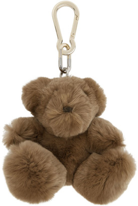 Yves Salomon Brown Rabbit Teddybear Keychain