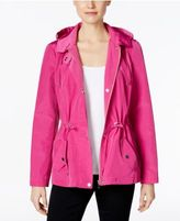 Charter Club Petite Water-Resistant Hooded Utility Jacket, Only at Macy's