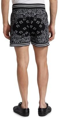 Amiri Drawstring Bandana-Print Shorts