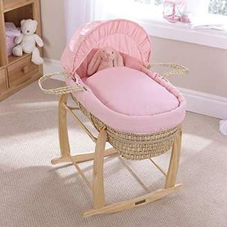 Clair De Lune Pure Baby Palm Moses Basket - White