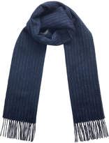 Pinstripe Check Double Scarf