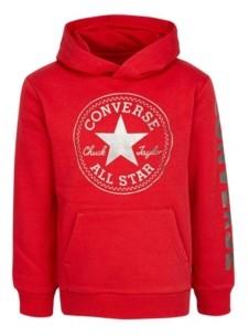 Converse Big Boys Fleece Metallic Logo Pullover Hoodie