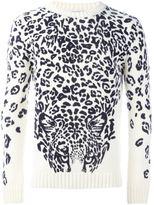 Saint Laurent panther print jumper