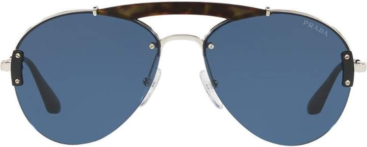 f91a8f02bbcd Prada Black Men's Sunglasses - ShopStyle