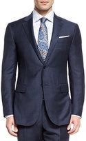 Ermenegildo Zegna Trofeo Wool Tonal Plaid Two-Piece Suit, Navy