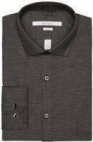 Perry Ellis Slim Fit Dobby Step Dress Shirt