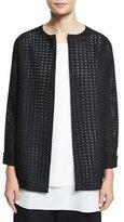 Shamask Long-Sleeve Mesh Jacket, Black