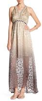 Hale Bob Embellished Silk Blend Halter Maxi Dress