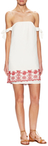 Winston White Parisian Embroidered Eyelet Shift Dress