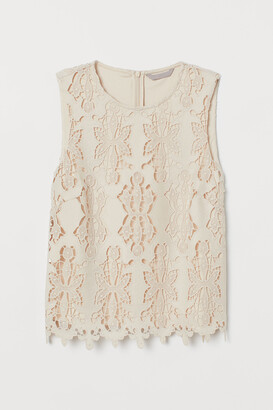 H&M Sleeveless lace top