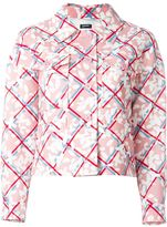 Jil Sander Navy checked floral print jacket
