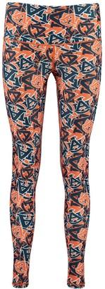 Unbranded Women's ZooZatz Multi Auburn Tigers Stacked Mascot Leggings