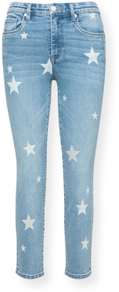 Blank NYC Ever After Star-Print Skinny Jeans