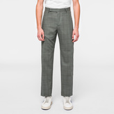 Paul Smith A Suit To Travel In - Classic-Fit Grey Windowpane Check Trousers