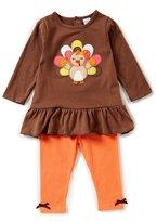 Starting Out Baby Girls 12-24 Months Thanksgiving Turkey Ruffle Top & Leggings Set