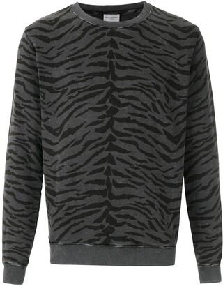 Saint Laurent Animal Print Sweatshirt