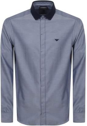 Giorgio Armani Emporio Long Sleeved Contrast Shirt Navy