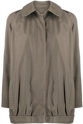 Giorgio Armani Pre Owned 1980s Straight Buttoned Coat